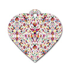 Peacock Rainbow Animals Bird Beauty Sexy Flower Floral Sunflower Star Dog Tag Heart (two Sides)