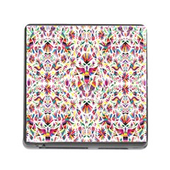 Peacock Rainbow Animals Bird Beauty Sexy Flower Floral Sunflower Star Memory Card Reader (square)