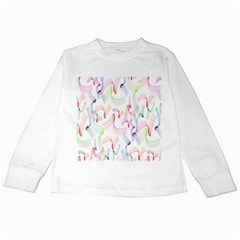 Rainbow Green Purple Pink Red Blue Pattern Zommed Kids Long Sleeve T Shirts