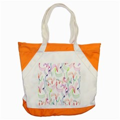 Rainbow Green Purple Pink Red Blue Pattern Zommed Accent Tote Bag