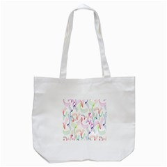 Rainbow Green Purple Pink Red Blue Pattern Zommed Tote Bag (white)