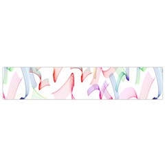 Rainbow Green Purple Pink Red Blue Pattern Zommed Flano Scarf (small)