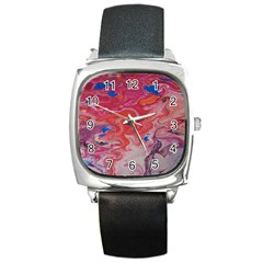 Pink Img 1732 Square Metal Watch