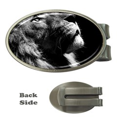 Male Lion Face Money Clips (oval)