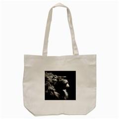 Male Lion Face Tote Bag (cream)
