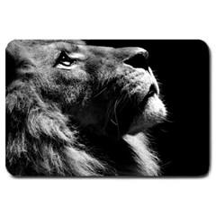 Male Lion Face Large Doormat