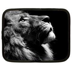 Male Lion Face Netbook Case (large)