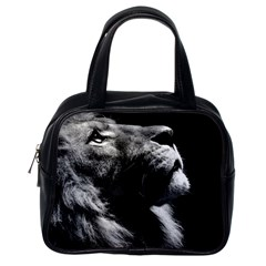 Male Lion Face Classic Handbags (one Side)