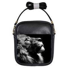 Male Lion Face Girls Sling Bags