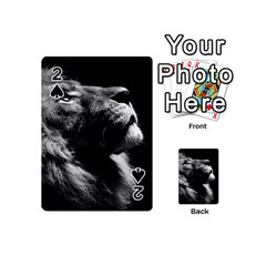 Male Lion Face Playing Cards 54 (mini)