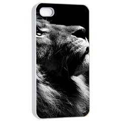 Male Lion Face Apple Iphone 4/4s Seamless Case (white)