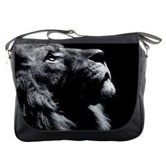 Male Lion Face Messenger Bags