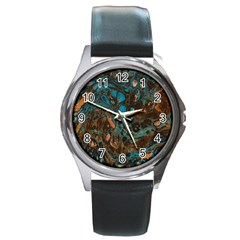 Earth Round Metal Watch