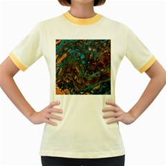 Earth Women s Fitted Ringer T Shirts