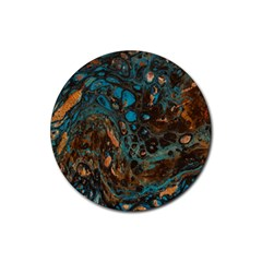 Earth Rubber Round Coaster (4 Pack)