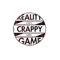 Reality Is Just A Crappy Boring Game Hat Clip Ball Marker (10 Pack)