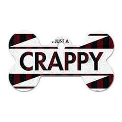 Reality Is Just A Crappy Boring Game Dog Tag Bone (one Side)