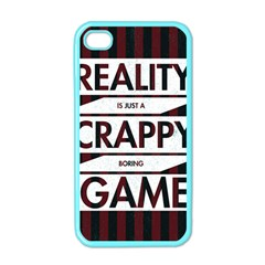Reality Is Just A Crappy Boring Game Apple Iphone 4 Case (color)
