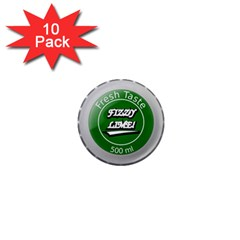 Fresh Taste Fizzy Lime Bottle Cap 1  Mini Magnet (10 Pack)