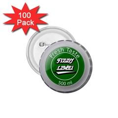 Fresh Taste Fizzy Lime Bottle Cap 1 75  Buttons (100 Pack)