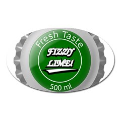 Fresh Taste Fizzy Lime Bottle Cap Oval Magnet