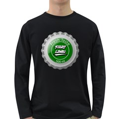 Fresh Taste Fizzy Lime Bottle Cap Long Sleeve Dark T Shirts