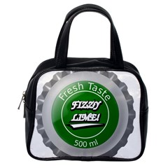 Fresh Taste Fizzy Lime Bottle Cap Classic Handbags (one Side)