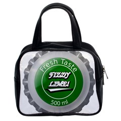 Fresh Taste Fizzy Lime Bottle Cap Classic Handbags (2 Sides)