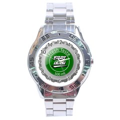 Fresh Taste Fizzy Lime Bottle Cap Stainless Steel Analogue Watch