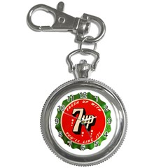Fresh Up With  7 Up Bottle Cap Tin Metal Key Chain Watches