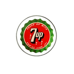 Fresh Up With  7 Up Bottle Cap Tin Metal Hat Clip Ball Marker (4 Pack)