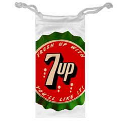Fresh Up With  7 Up Bottle Cap Tin Metal Jewelry Bag