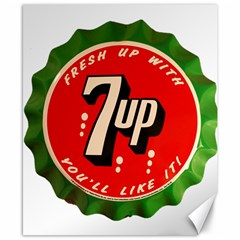 Fresh Up With  7 Up Bottle Cap Tin Metal Canvas 8  X 10