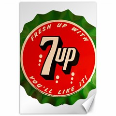 Fresh Up With  7 Up Bottle Cap Tin Metal Canvas 12  X 18
