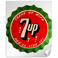 Fresh Up With  7 Up Bottle Cap Tin Metal Canvas 16  X 20