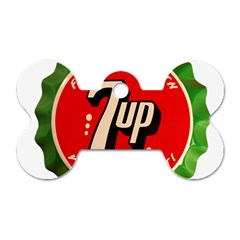 Fresh Up With  7 Up Bottle Cap Tin Metal Dog Tag Bone (one Side)