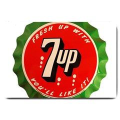 Fresh Up With  7 Up Bottle Cap Tin Metal Large Doormat