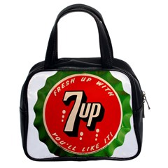 Fresh Up With  7 Up Bottle Cap Tin Metal Classic Handbags (2 Sides)