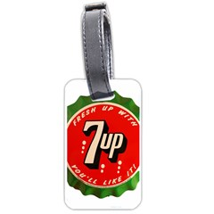 Fresh Up With  7 Up Bottle Cap Tin Metal Luggage Tags (one Side)