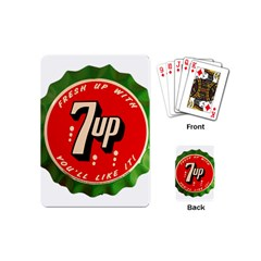 Fresh Up With  7 Up Bottle Cap Tin Metal Playing Cards (mini)