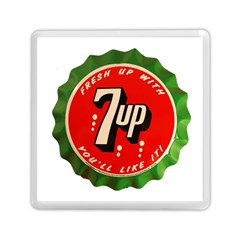 Fresh Up With  7 Up Bottle Cap Tin Metal Memory Card Reader (square)