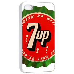 Fresh Up With  7 Up Bottle Cap Tin Metal Apple Iphone 4/4s Seamless Case (white)