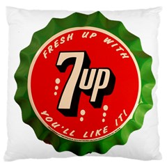Fresh Up With  7 Up Bottle Cap Tin Metal Large Cushion Case (two Sides)