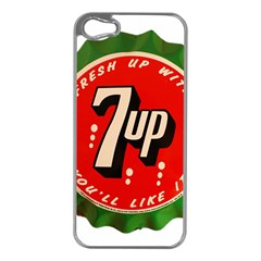 Fresh Up With  7 Up Bottle Cap Tin Metal Apple Iphone 5 Case (silver)