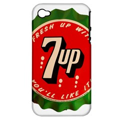 Fresh Up With  7 Up Bottle Cap Tin Metal Apple Iphone 4/4s Hardshell Case (pc+silicone)