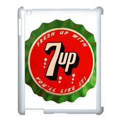 Fresh Up With  7 Up Bottle Cap Tin Metal Apple Ipad 3/4 Case (white)