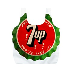 Fresh Up With  7 Up Bottle Cap Tin Metal Full Print Recycle Bags (m)