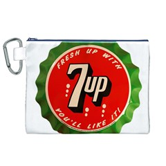 Fresh Up With  7 Up Bottle Cap Tin Metal Canvas Cosmetic Bag (xl)