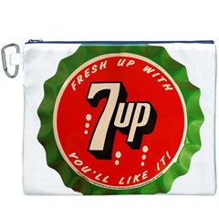 Fresh Up With  7 Up Bottle Cap Tin Metal Canvas Cosmetic Bag (xxxl)