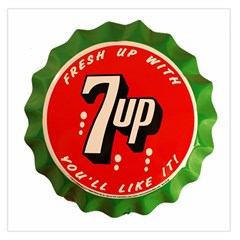 Fresh Up With  7 Up Bottle Cap Tin Metal Large Satin Scarf (square)